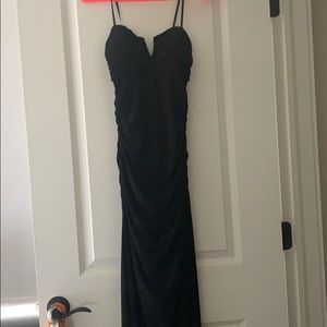Rouched tight long formal dress
